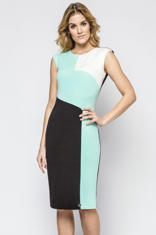 f3010d2915 Ennywear 230122 women s sleeveless dress zip smooth round neck midi ...