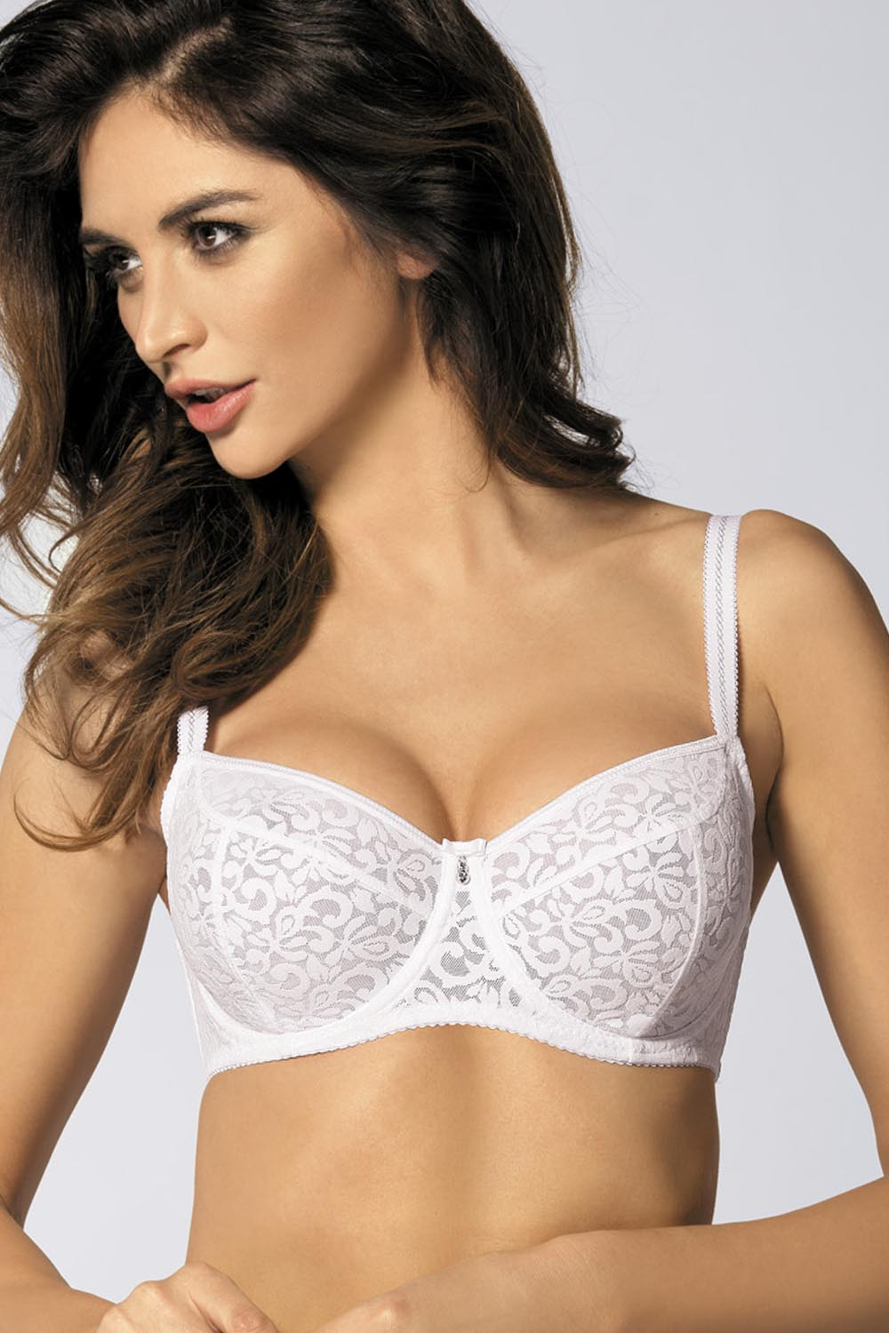3fcf802d823a47 Gorteks Marilyn/B2 underwired bra without padding for big bust adjustable  straps | White