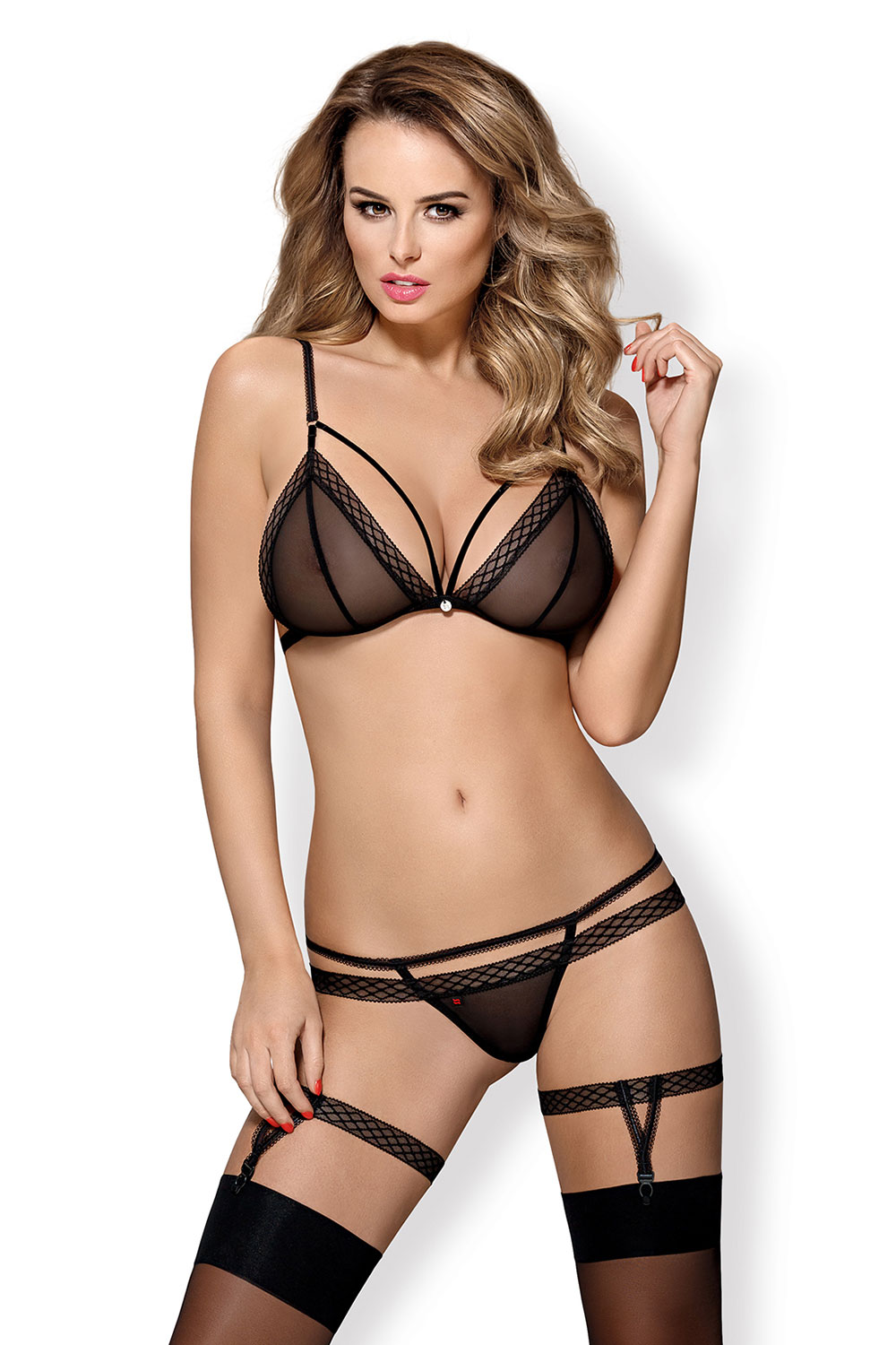 Obsessive sexy women s mesh set 855-SEA-1  7756b189d