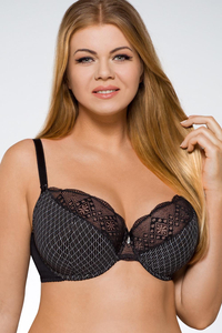 Ava 1471 underwired semi padded full cup bra lace