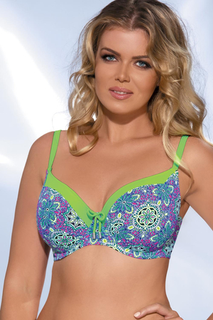 Ava SK-43 colourful underwired swimsuit top with soft cups