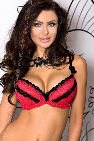 Axami V-5731 Coral fashionable chic push-up bra