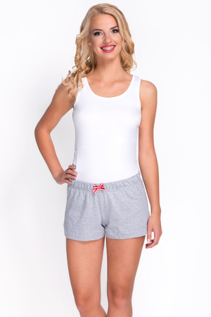 Babella 3094 women's non patterned pyjama shorts with regular waist cotton