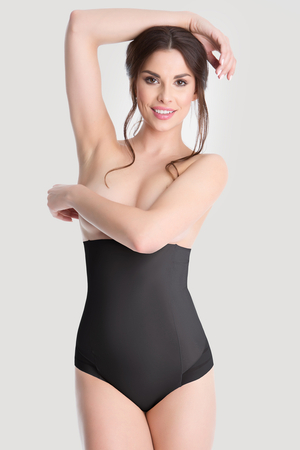 Julimex Shapewear 141 Mesh women's high waisted briefs smooth slimming