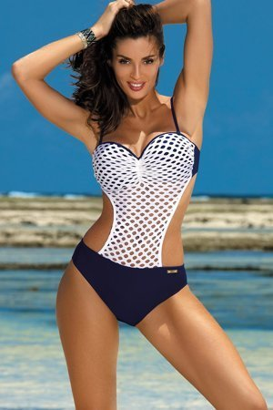 Marko Gwen M-405 women's mesh monokini underwired push-up removable straps