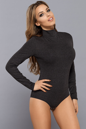 Vestiva BDV 023 women's bodysuit leotard body long sleeves