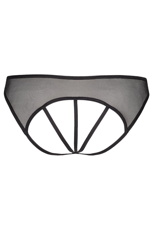 axami v6458 charbon sexy open crotch thong black