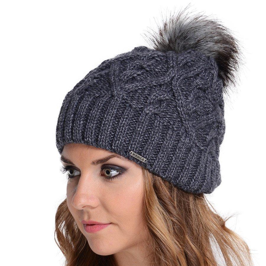 c837369c01c Product eng kamea laila womens beanie hat with faux fur pom winter knit  casual warm jpg