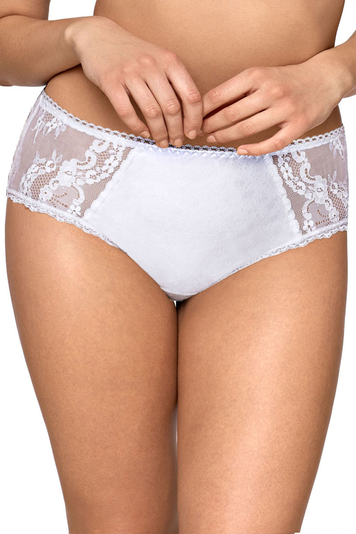 Ava 1130 women's knickers briefs patterned in flowers with lace regular waist