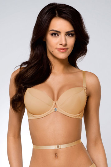 Ava 146/69 smooth convertible multiway padded push-up bra with pockets