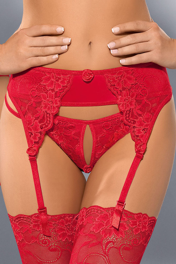 "Axami V-5362 ""Excite me"" luxurious garter belt with beautiful lace design"
