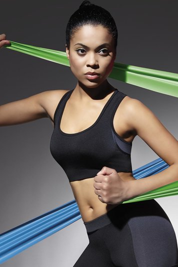 Bas Bleu Teamtop 30 classic wide straps sport bra with quick dry function