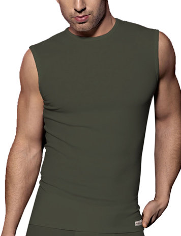 Carllos 101 classic man's tank top with wide straps