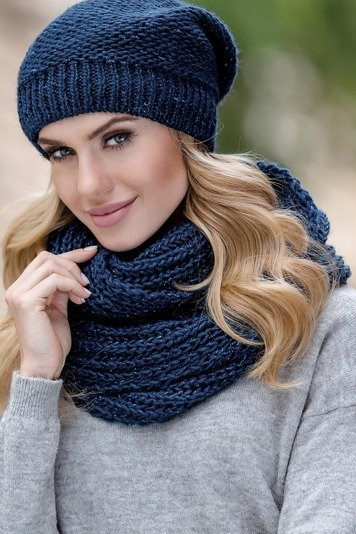 Eterno Beata women's snood scarf not patterned mono colour for winter