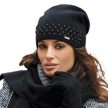 Kamea Drina women's studded beanie hat thick wool universal casual warm