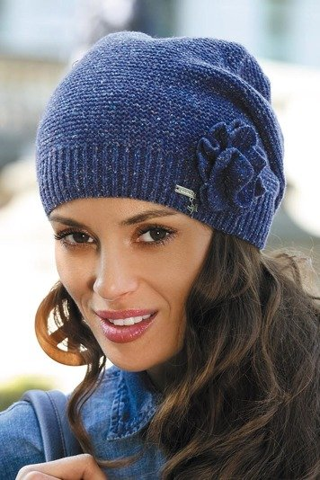 Kamea Jovita women's beanie non-patterned with flower application