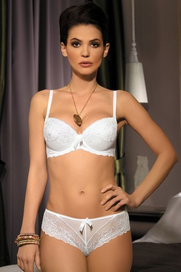 Nipplex Magda II classic subtle push-up bra with lace and small bow