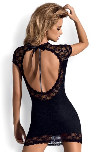 Obsessive Dressita charming romantic chemise with thong