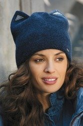 Kamea Agota women's woolen beanie mono colour plain with decorations