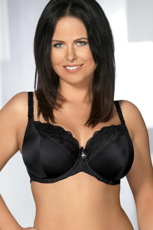 Ava 1261 underwired padded bra smooth lace mesh adjustable non removable straps