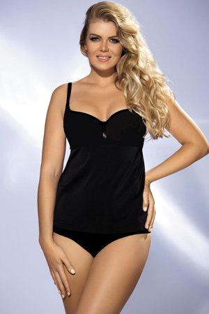Ava ST-6 women's tankini top underwired padded cups smooth