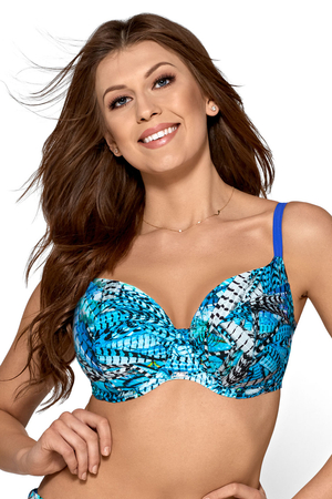 Ava underwired soft patterned bikini top  SK-72