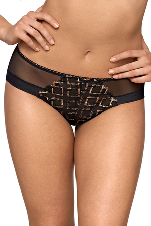 Ava women's embroidered briefs 1791/B Gold Pasion