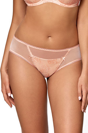Ava women's mesh brazilian briefs 1752/B Sand Flower