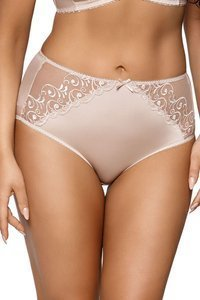 Ava women's smooth high waist embroidered briefs 1691/B Libi