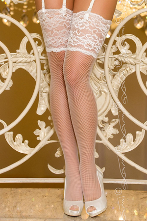 Axami V-6814 Ceremony fishnet stockings lace