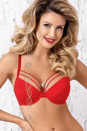 Axami V-7121 underwired plain push-up bra with removable pads