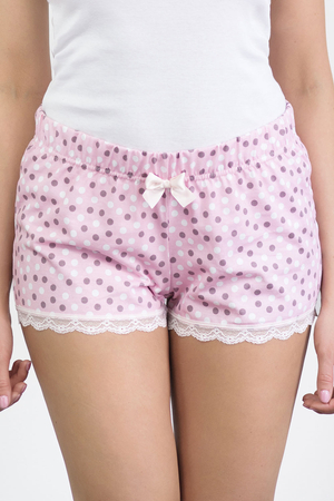 Babella women's dotted lace shorts 3128