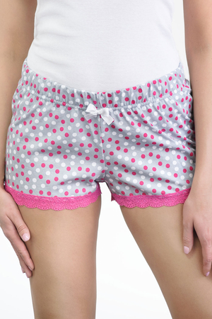 Babella women's dotted lace shorts 3129