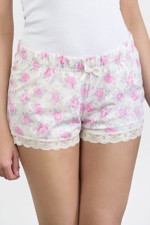 Babella women's floral roses lace shorts  3127