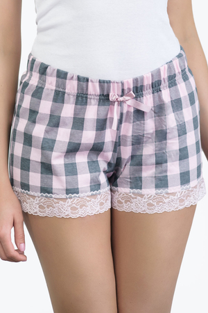 Babella women's patterned lace shorts 3123