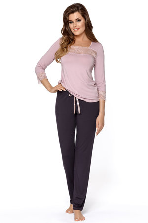 Babella women's smooth lace pyjama set Hortensja