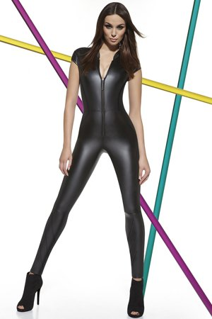 Bas Bleu Enya Women's stylish sexy front zip jumpsuit