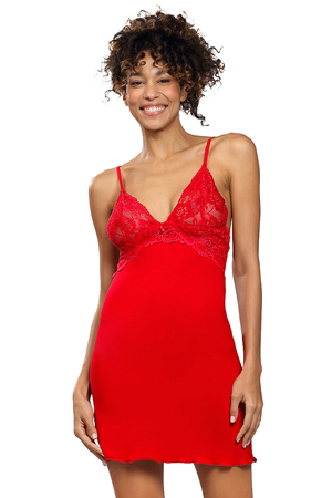 Dkaren sexy satin lace nightdress Frederica