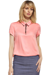 Ennywear 230094 women's short-sleeved shirt collar neon colour casual