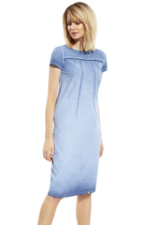 Ennywear 230109 women's short sleeved dress washed out look casual oversize
