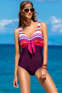 Ewlon Bali II fabulous fashionable one-piece swimsuit with soft triangle cups and removable pads