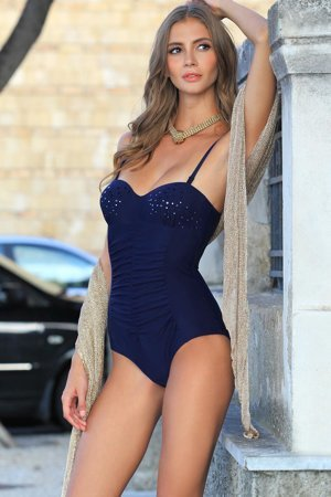 Ewlon Malibu II classic one-piece swimsuit with sequins