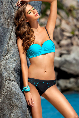 Ewlon Salma stylish two-piece swimsuit with push up pads with halter strap