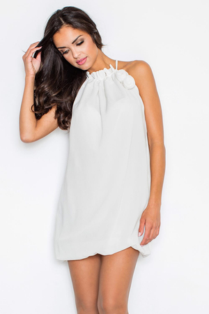 Figl 65 elegant evening subtle mini dress/tunic bubble hemline