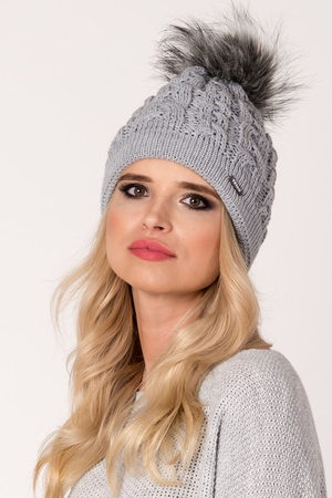 Fil'loo women's hat with pompom CD-18-08