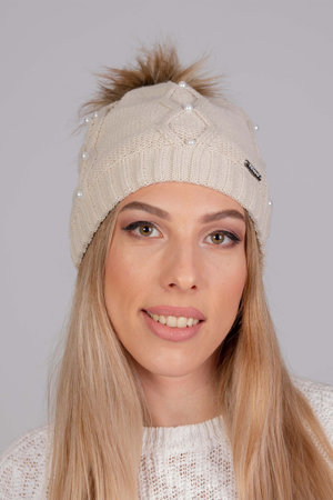 Fil'loo  women's pompom warm hat CD-19-01