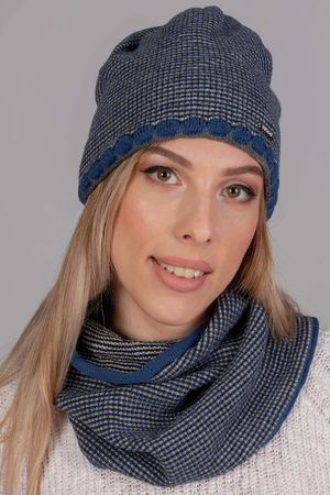 Fil'loo women's warm hat and snood set KPL-19-51