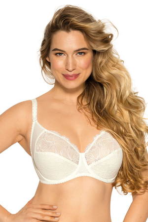 Gaia 534 Chantal lacy elegant wired non padded bra with embroidery