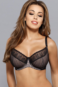 Gaia 630 Virginia underwired non padded bra lace mesh pattern
