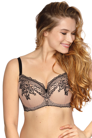 Gaia underwired embroidered semi padded bra 873 Frida